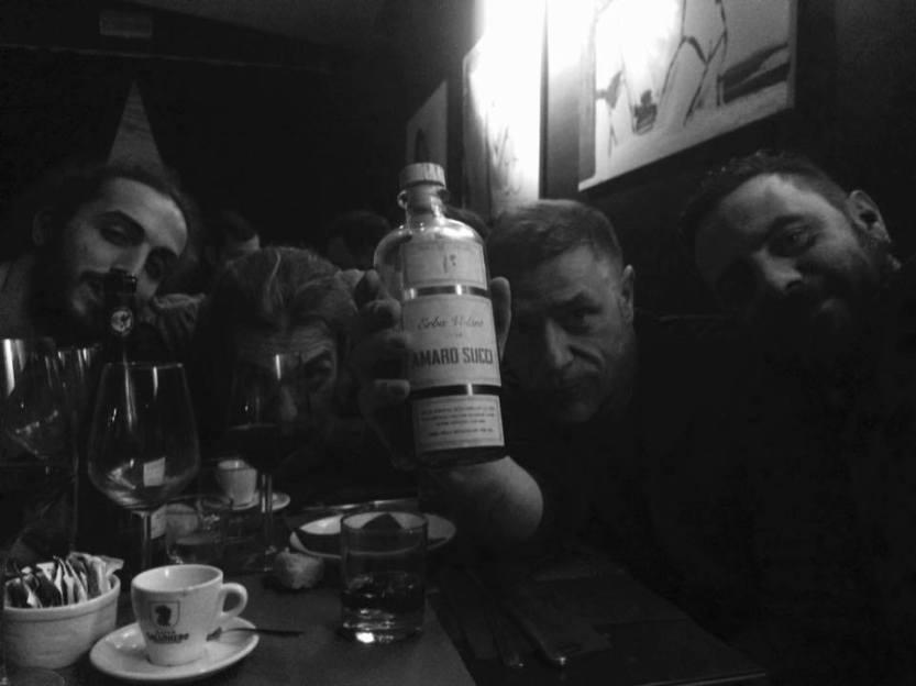 Da sinistra a destra: Giovanni Stimamiglio, Tristan Martinelli, Amaro Succi, Giovanni Succi, Andrea Leonardi. Mishima, Terni, dicembre 2017